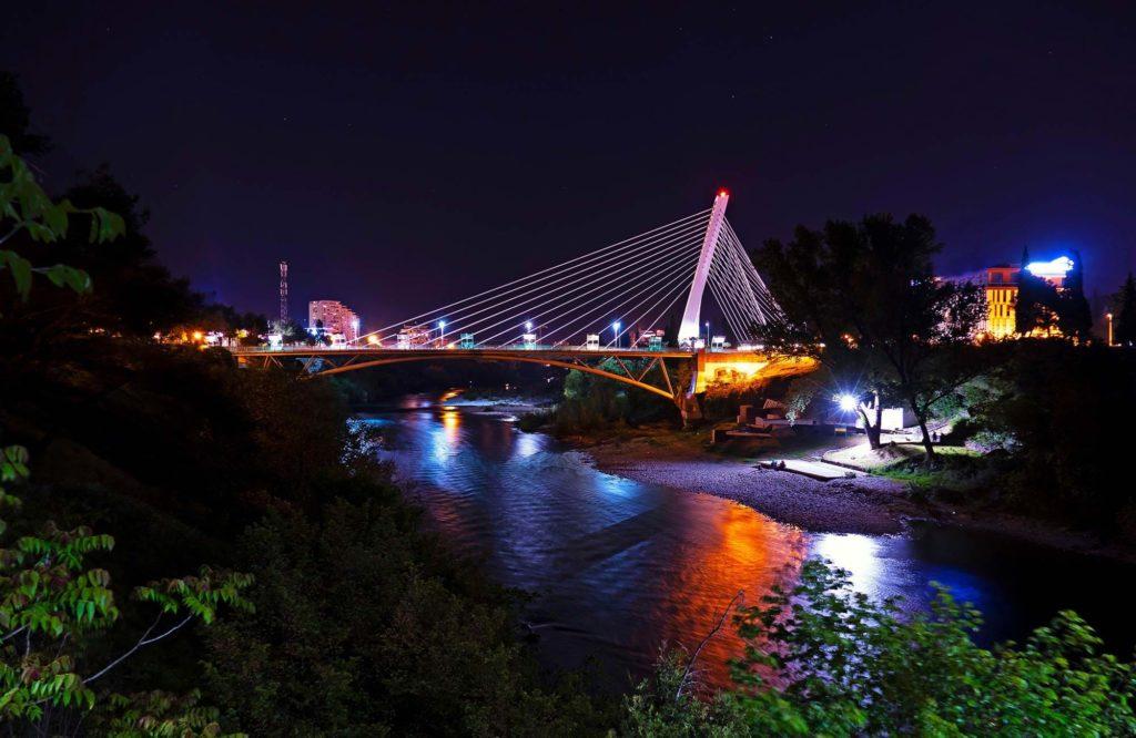 Ночная Подгорица Черногория