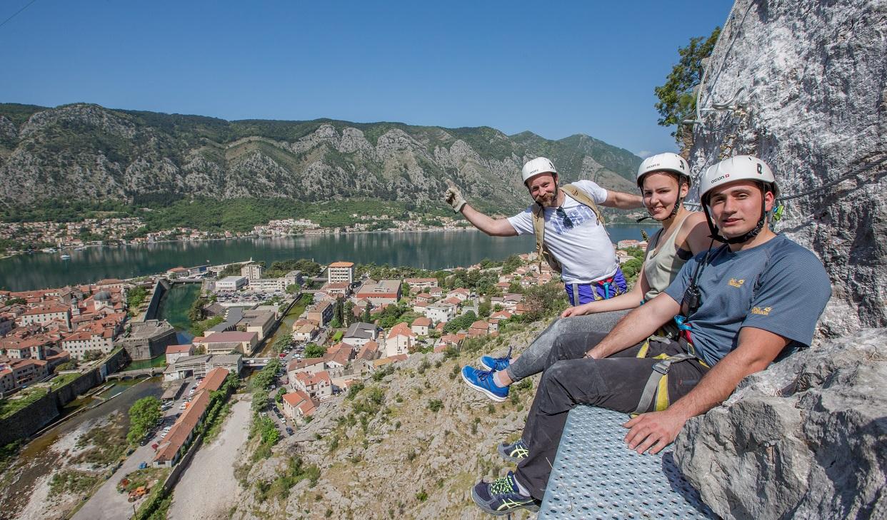 Скалолазание в Черногории