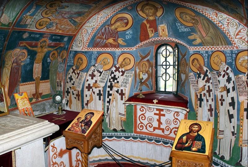 Цетинский монастырь внутри