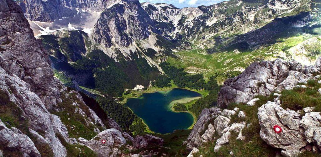 Виды Черногории Трновацкое озеро