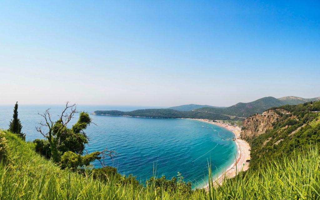 Виды Черногории Пляж Яз